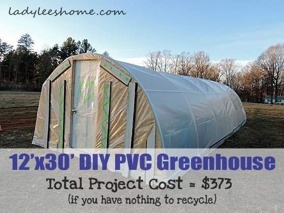 12'x30' DIY PVC Greenhouse For $360   Lady Lee's Home