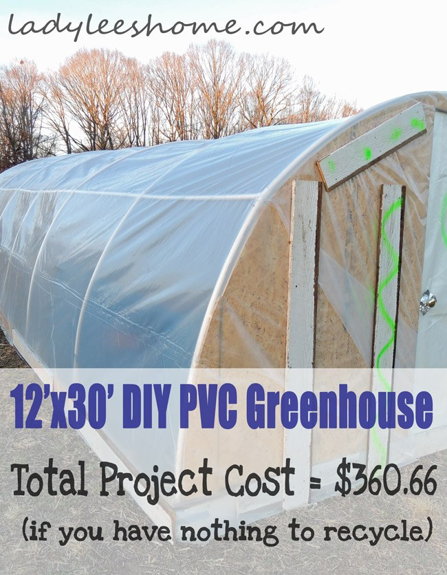 12' x 30' DIY PVC Greenhouse For $360
