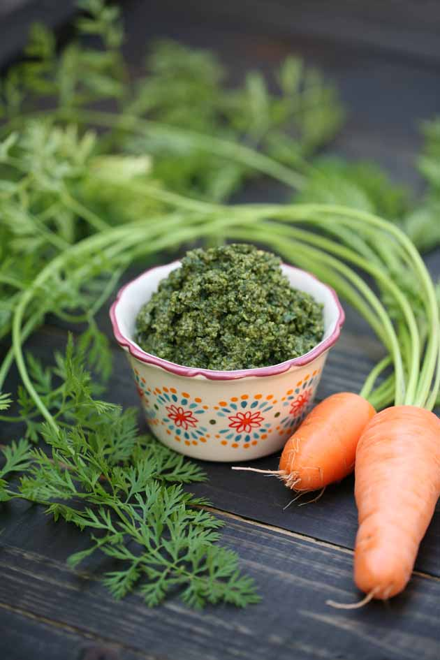 Carrot Top Pesto Recipe