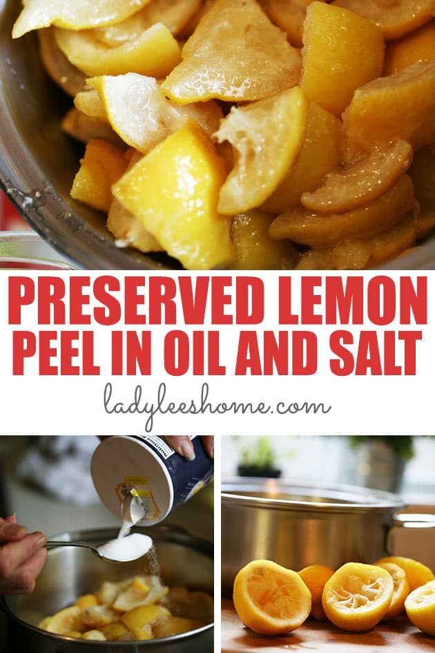 Let's learn how to preserve lemon peels in salt and oil! This is a simple recipe and a great way to use lemon peel. You won't believe how tasty they are!
