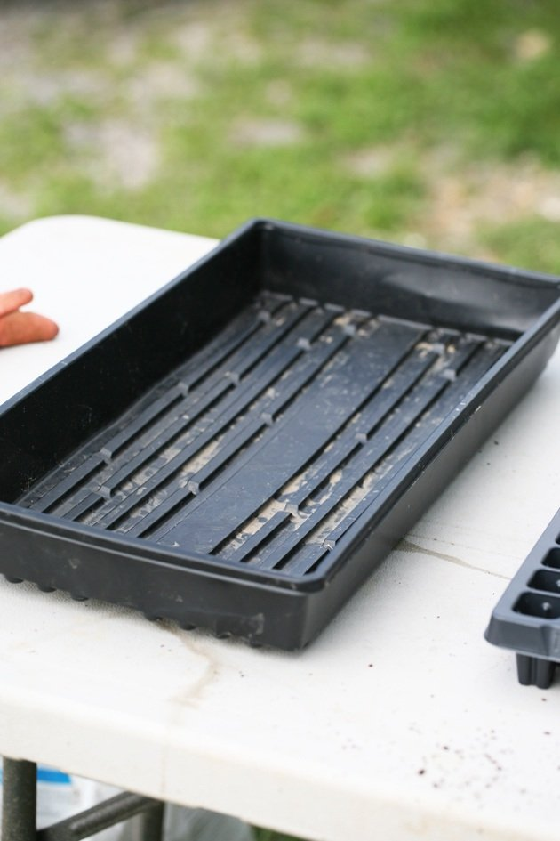 Seed starting leak-proof tray.