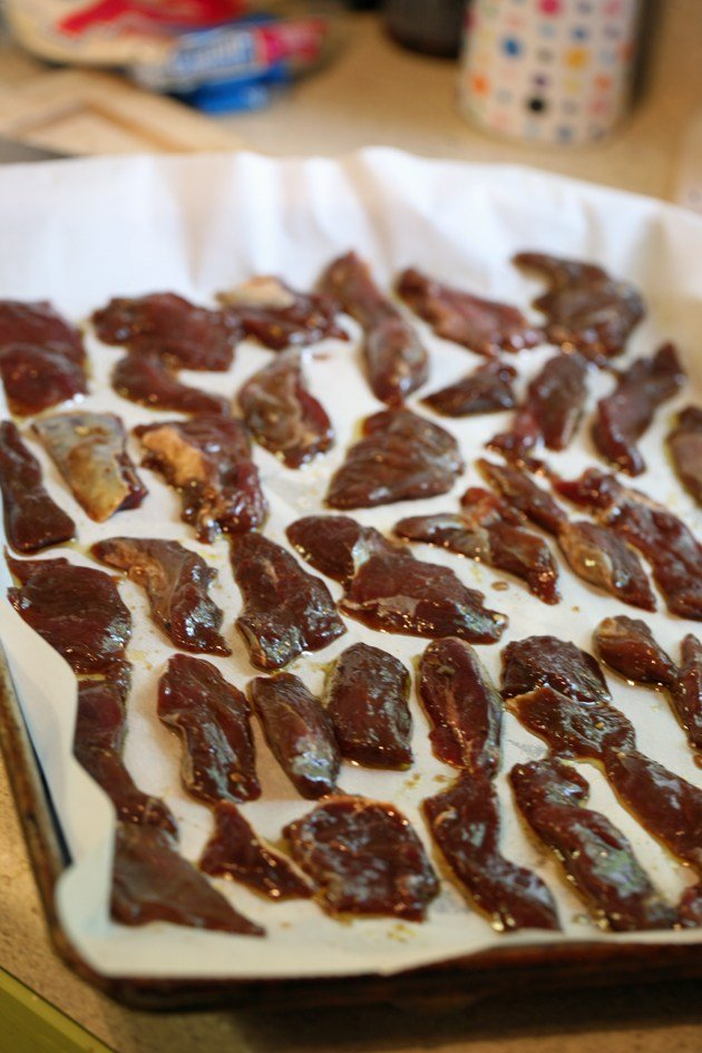 I hope you are going to have a great fall hunting! If you find yourself hunting deer this fall and coming home with one, try this jerky recipe. This venison jerky recipe is an oven jerky and it's easy to make and takes much less time that the dehydrator jerky.  #ovenjerky #venisonjerky #huntingdeer #fallhunting #jerkyintheoven #diyjerky #homemadejerky #jerkymarinades #paleojerkyrecipes