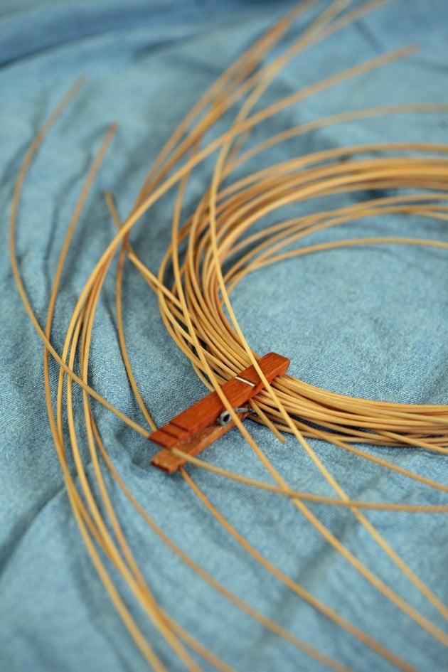 Reeds for basket making.