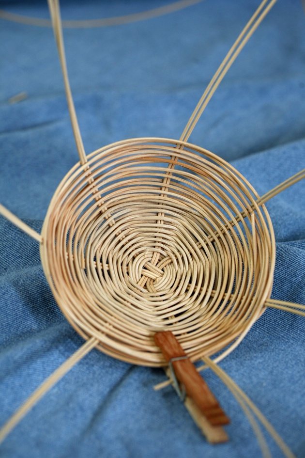 Handmade basket - the middle of the project.