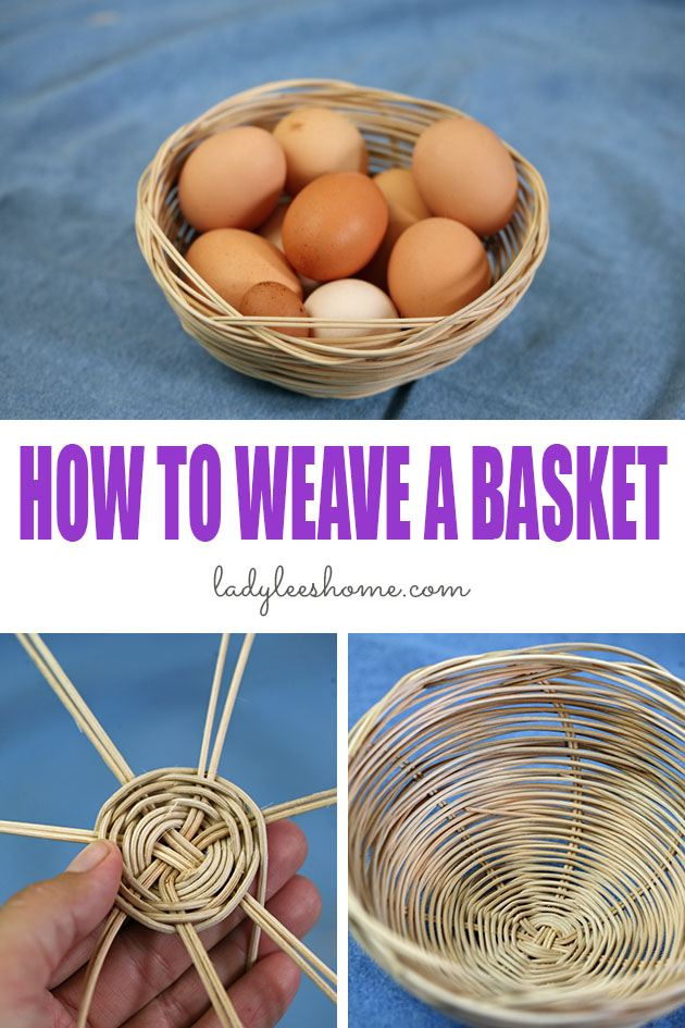Join me for a picture tutorial on how to weave a basket. A fun, relaxing, and easy basket weaving project. The result is both beautiful and useful! #howtoweaveabasket #simplebasketweaving #reedbasketweaving #simplebasketweaving