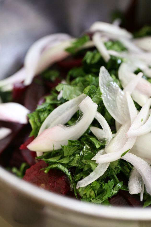A fresh beet salad with onion and cilantro. Super healthy and Tasty. #LadyLeesHome #beets #onion #cilantro #healthyfood #salad