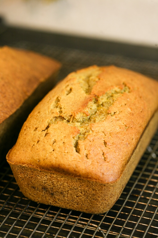 Easy pumpkin bread recipe with less sugar and fresh pumpkin puree.