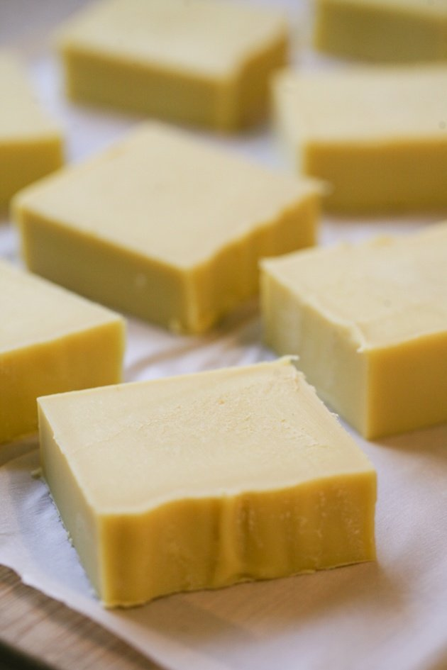 Join me for a step-by-step picture tutorial on how to make goat milk soap (or you can use any kind of milk). This is a basic recipe that you can make quickly and use as hand soap, body soap, and even shampoo. #LadyLeesHome #soapmaking #homemadesoap #homesteading #goatmilksoap