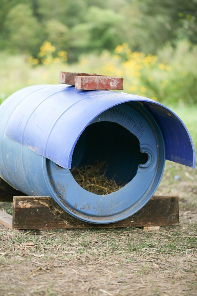 How To Build A Dog House From A Barrel Lady Lees Home