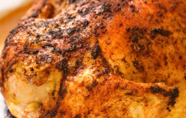 Super Easy Roasted Chicken in Salt