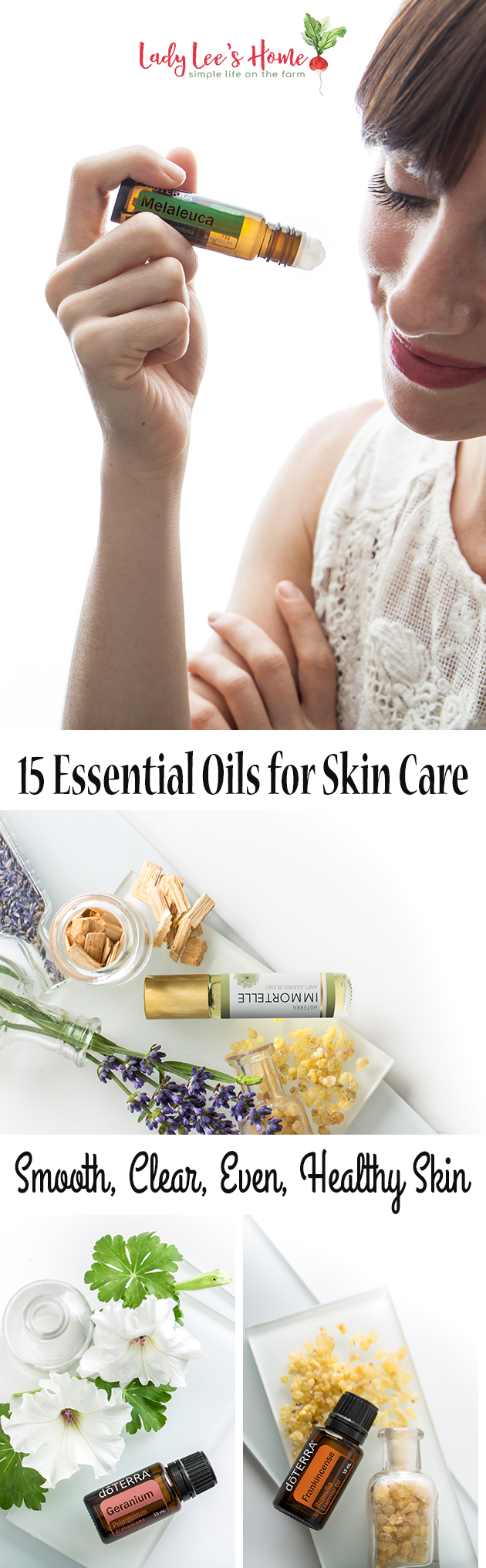 Let's go over 15 essential oils for skin care. These oils will support a smooth, clear, even, and healthy skin. They'll keep your skin rejuvenated and young-looking.