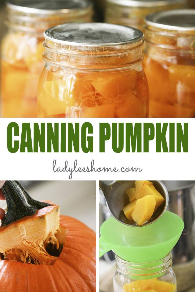 Canning pumpkin at home is not as hard as you might think! Yes, you do need to use a pressure canner but really, it's not a big deal. Let me show you step-by-step how to can pumpkin at home so you can enjoy it year round! #howtocanpumpkin #canningpumpkin #preservingpumpkin