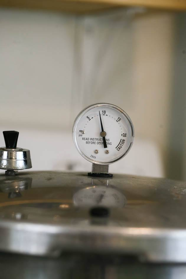 Dial on a pressure canner