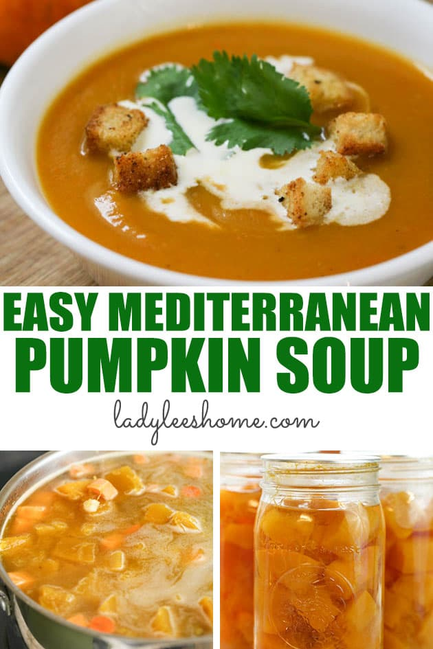 A simple and delicious Mediterranean pumpkin soup recipe that is healthy, creamy, and filling. Garnish with parsley, cilantro, or celery leaves. Serve with croutons and roasted pumpkin seeds.