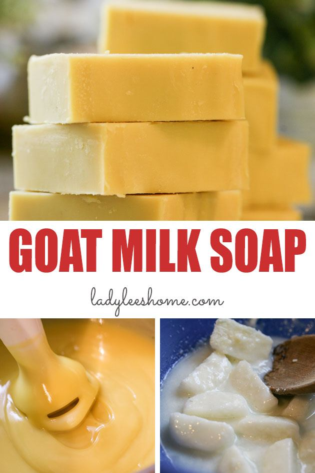 A simple step-by-step picture tutorial on how to make goat milk soap. From beginning to end, everything you need to know to make milk soap at home. #howtomakegoatmilksoap #goatmilksoap #goatmilksoaprecipe #makinggoatmilksoap