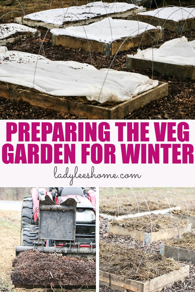 Preparing the vegetable garden for winter can be done rather quickly. Winter is an important time. The garden gets to rest and the soil can improve. Preparing your vegetable garden for winter will not only help improve the soil but will also save you a ton of work in the spring.   #preparinggardenforwinter #preparinggardenforfall #preparinggardenforspring #preparinggardenbeds