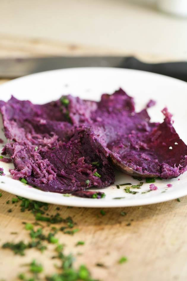 purple sweet potato peel.