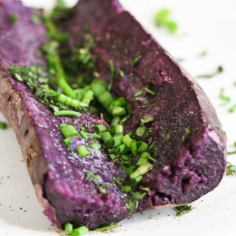 Baked Purple Sweet Potato