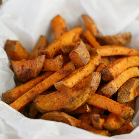 Simple, Oven Baked Sweet Potato Fries