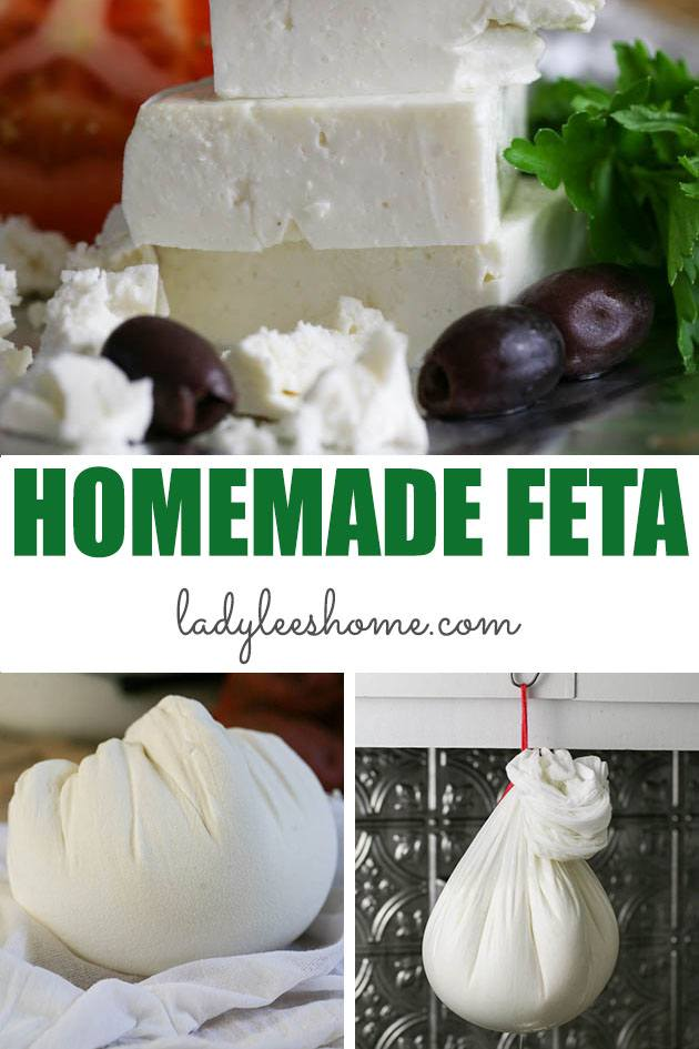 Homemade feta cheese is easier to make than you think! In this step by step picture tutorial, I'll show you how to make a large batch of feta cheese... #homemadefetacheese #fetacheeserecipe #howtomakefetacheese #makingfetacheese #freezingfetacheese