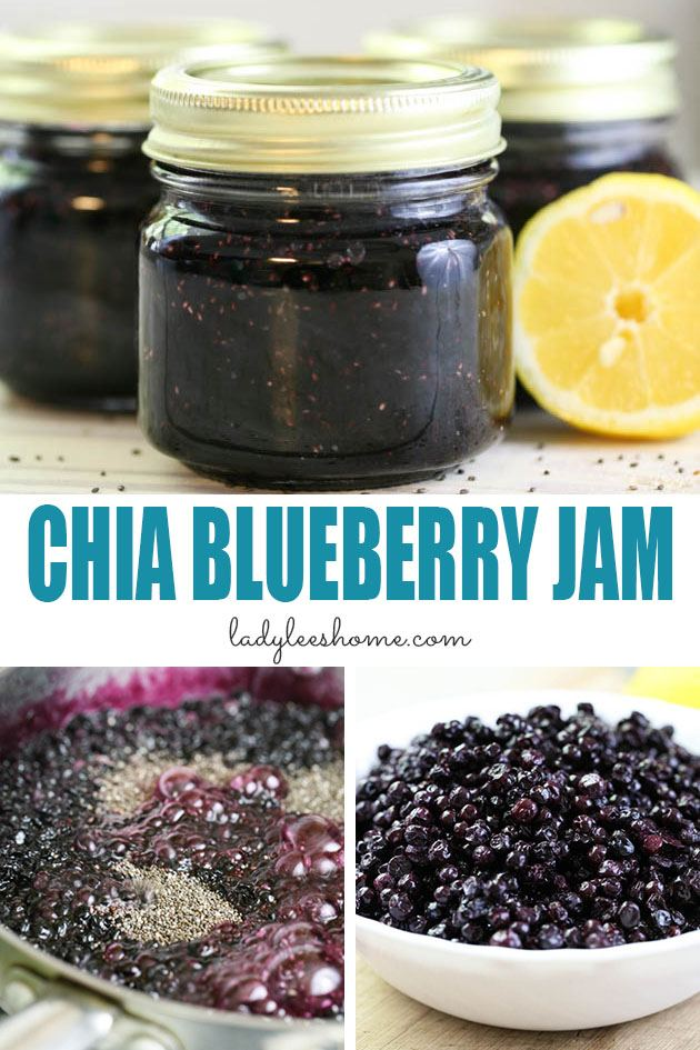 Chia blueberry jam recipe with less sugar. This is a not pectin blueberry jam. Instead, we use chia seeds to thicken it naturally. We'll go over the recipe and instructions for canning blueberry jam.