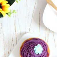 Purple Sweet Potato Mont Blanc Tartlets