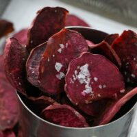 Salt and Vinegar Purple Sweet Potato Chips
