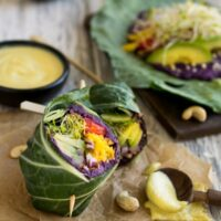 Purple Sweet Potato Collard Wraps