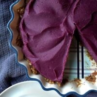 Purple Sweet Potato Pie {Vegan, Paleo}