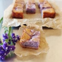 Okinawan Sweet Potato Cake with Macapuno