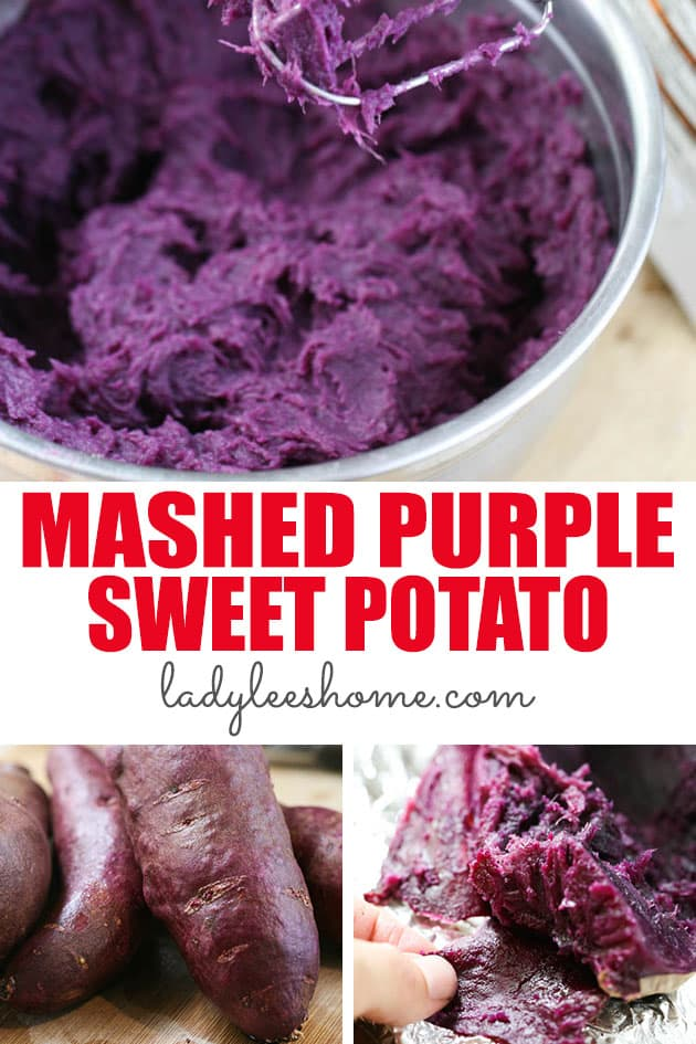 These simple mashed purple sweet potatoes are super easy to make and are creamy and healthy. This is a delicious side dish that is going to add color to any dinner! #mashedpurplesweetpotatoes #purplesweetpotatorecipe