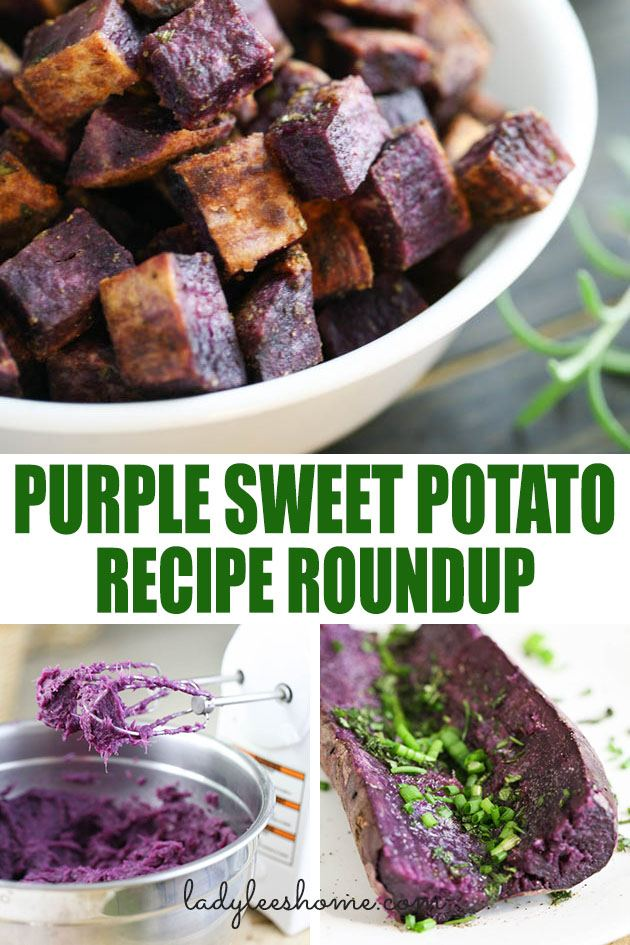 Purple Sweet Potato Recipe Roundup