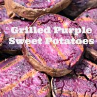 Grilled Purple Sweet Potatoes