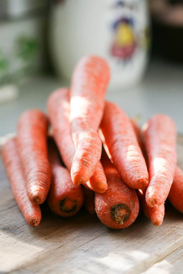 Carrots for freezing.