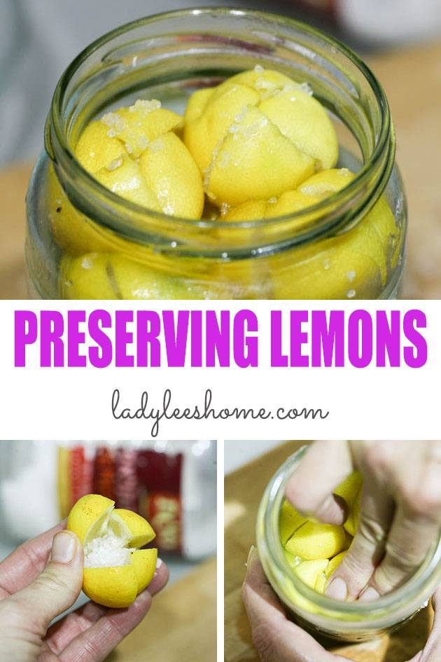 In this post, I'll show you how to preserve whole lemons in salt and oil. It's so easy and a great way to preserve lemons. They are an amazing addition to so many dishes! #preservinglemons #howtopreservelemons #preservedlemons