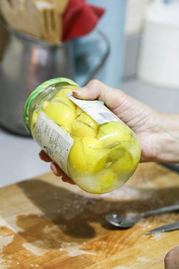 Shaking the jar.