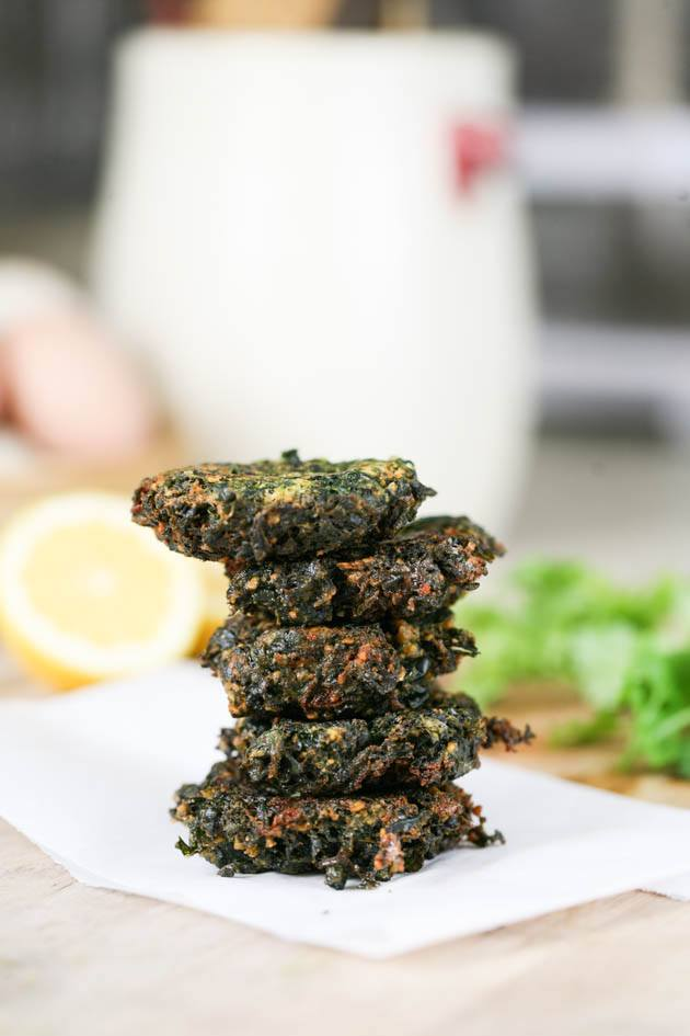Fried spinach patties.