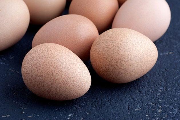 Guinea eggs.