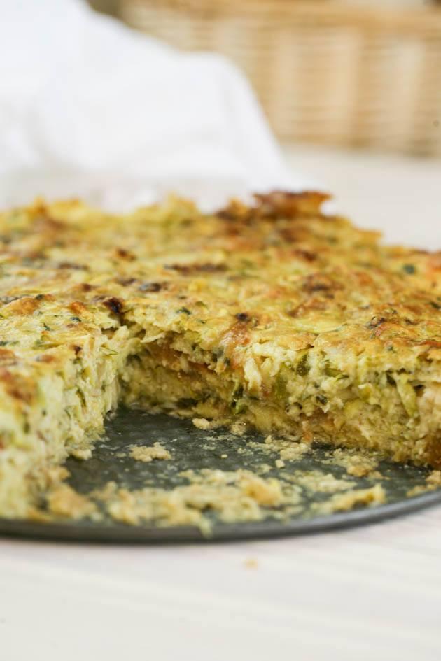 Mediterranean zucchini casserole recipe.