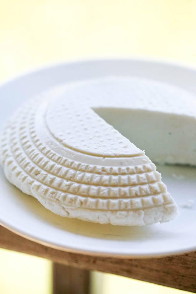 Raw goat milk cheese.