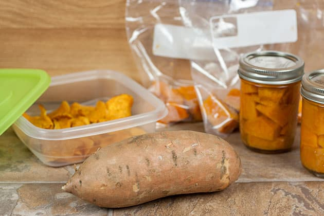 Preserving sweet potatoes.