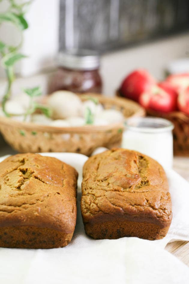 2 loaves of sweet potato bread.