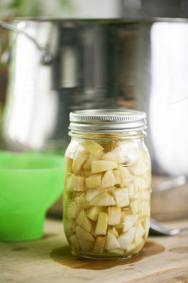 Closing the jar.