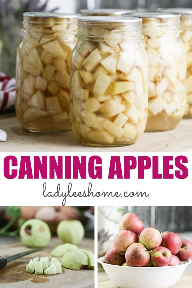 A step by step tutorial that will teach you all about canning apples in light syrup. This is a simple way to preserve apples! #howtocanapples #canningapples #preservingapples