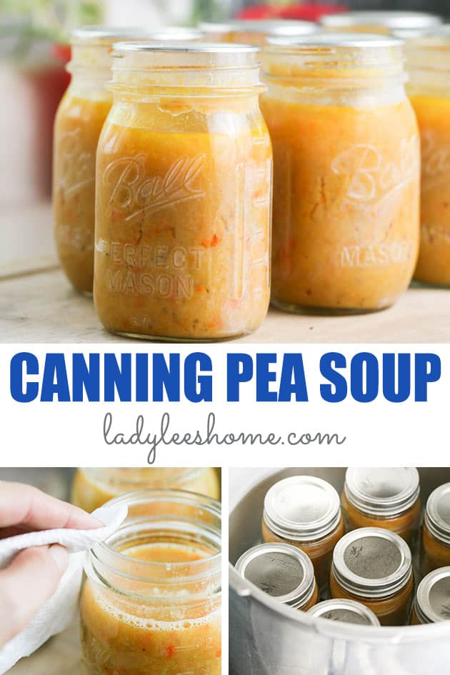 Canning pea soup is an easy way to preserve a meal. It's a delicious soup that is very filling and easy to make and preserve...  #canningpeasoup #canning #peasouprecipe
