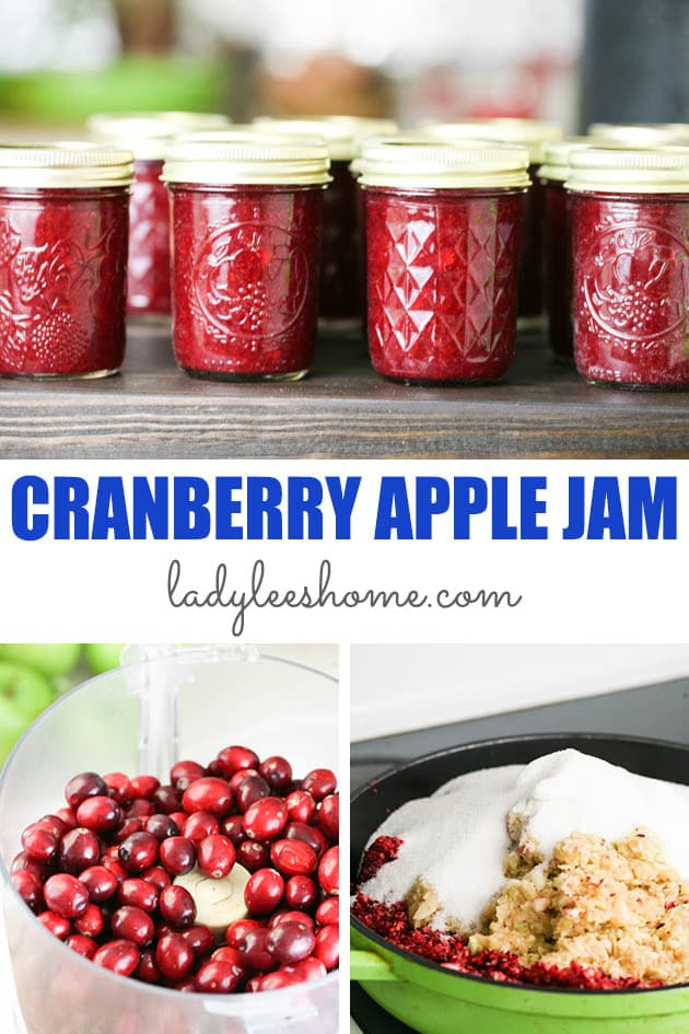 Cranberry apple jam is a sweet yet tart jam. It's a delicious fall jam and can be a fun addition to the holiday table or even a replacement for the traditional cranberry sauce. #cranberryapplejam #cranberryrecipes