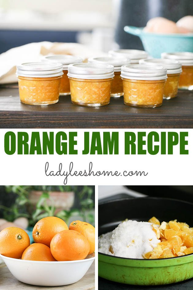 Orange jam is a great simple jam to make and can at home. This orange jam recipe uses less sugar and the jam is seasoned with ginger and cinnamon (you can change the seasonings).