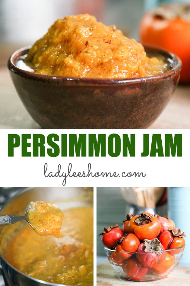 Persimmon jam is a simple and quick jam to make. It has a unique flavor and it can be seasoned with fall spices or can be made with nothing but sugar and a little bit of lemon juice. It's an easy jam and a great way to preserve the fall harvest and flavor.  #persimmonjam #persimmonrecipes