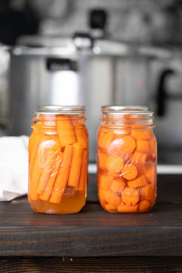 Home canned carrots.