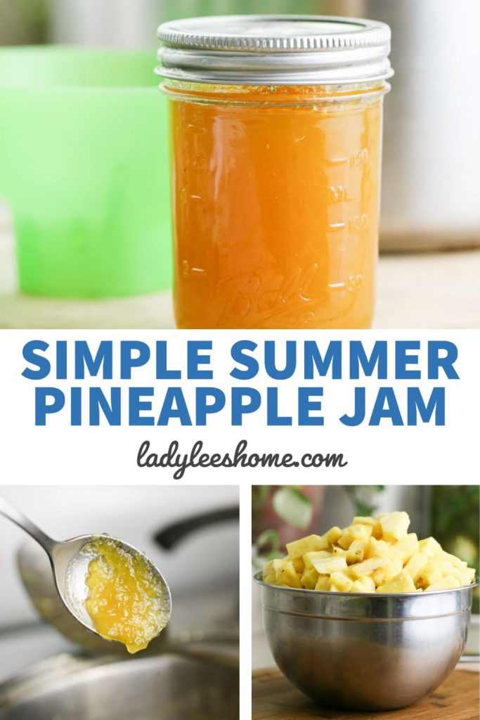 Pineapple jam is easy to make. This recipe uses fresh pineapples, less sugar, and no store-bought pectin. It's delicious and a mast summer jam to have in the pantry!
